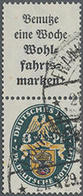1928, Nothilfe Wappen,A2+8,gest. Senkr. Zusammendruck, Mi. 900.- - Duitsland