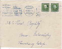 Czechoslovakia 1934, Letter Praha - Brno Žabovresky, Kajetan Tyl, Fr. Škroup,... - Lettres & Documents