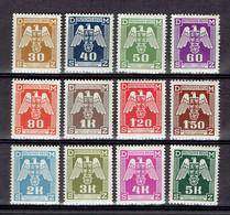 217 - P1 - Deutsche Reich - Bohème Et Moravie - Série Complète Service 13-24 - MNH - Neufs