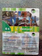 ESPAGNE PREPAID C3 BESTCARD LIBERTY STATUE LIBERTE TOUR EIFFEL TOWER MONT RUSHMORE 6€ UT - Cultura