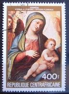 Timbre Poste Aérienne. Tableau : Oeuvre Du Corrège - La Vierge Et L'Enfant. Centrafrique. 1984 - Y.T. N° PA 305. - Zentralafrik. Republik