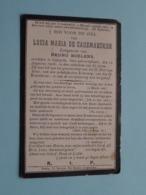 DP Lucia Maria DE CAUSEMAECKER ( Boelens ) Overleden 12 Aug 1906 Te Caprycke In Den Ouderdom Van 67 Jaren ( Zie Foto's ) - Todesanzeige