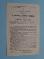 DP Suzanne MOREELS ( Alphonse HOLLEMAERT ) Waarmaarde 9 Oct 1867 - Gand 18 Dec 1945 ( Zie Foto's ) - Todesanzeige