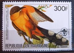 Timbre Poste Aérienne. Bicentenaire De La Naissance De L'ornithologue J.-J. Audubon. Centrafrique. 1985- Y.T. N° PA 322. - Zentralafrik. Republik