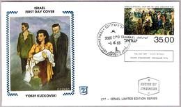 THE LAST WAY - Pintor YOSEF KUZKOVSKI. SPD/FDC Israel 1983 - Judaika, Judentum