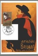 CM France - Aristide Bruant - Courtenay - 1990 - Cartes-Maximum