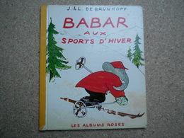 Les Albums Roses Babar Aux Sports D'hiver Et Babar En Promenade.....4A010320 - Autres