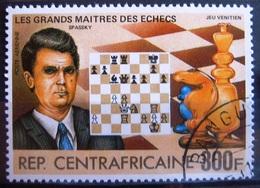 Timbre Poste Aérienne. Grands Maîtres Des échecs : Spassky. Centrafrique. 1983 - Y.T. N° PA 280. - Zentralafrik. Republik