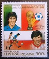 """Timbre Poste Aérienne. Vainqueurs De La Coupe Du Monde De Football """"Espana'82"""". Centrafrique. 1983 - Y.T. N° PA 285. - Zentralafrik. Republik"""