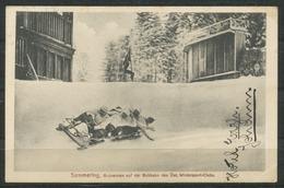 Ansichtskarte   -Semmering,Bobrennen Auf Der Bobbahn Des Öst. Wintersport-Clubs. - Semmering