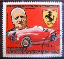 Timbre Poste Aérienne. Grands Constructeurs Automobiles : Enzo Ferrari. Centrafrique. 1983 - Y.T. N° PA 288. - Zentralafrik. Republik