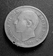 ESPAGNE 50 CENT 1881 ALFONSO XII N°  529D - Monnaies Provinciales
