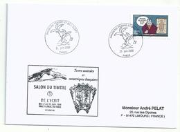 Cachet Illustré Salon D'automne 2006 - Sur YT A61 Personnage De Bandes Dessinnées - Le Chat - Cachets Commémoratifs