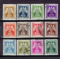 217 - P1 - Deutsche Reich - Bohème Et Moravie - Série Complète Service 13-24 - Oblitérée - Neufs