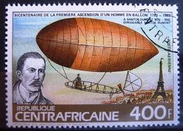 Timbre Poste Aérienne. Bicentenaire De La Première Ascension D'un Homme En Ballon. Centrafrique. 1983- Y.T. N° PA 293A.. - Zentralafrik. Republik