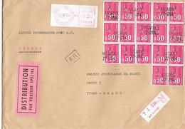 TIMBRES Sur LETTRE - Recommandé  1977 - Francia