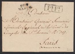 Précurseur - LAC Datée De Namur (1812) + Obl Linéaire P97P / NAMUR Et Encadré PsPs > Paris (Général Impérial) - 1794-1814 (Période Française)