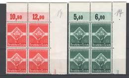 Drittes Reich , Nr 571-72 ,  Postfrische Viererblöcke - Ungebraucht