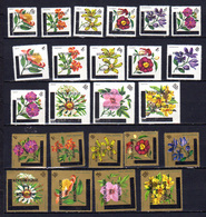 Burundi 1967, Fleurs, 199 / 213** + PA 43 / 51**, Cote 60 €, - Végétaux