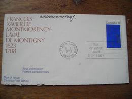 1973 François Xavier Montmorency-Laval De Montigny 1623 1708 - Premiers Jours (FDC)