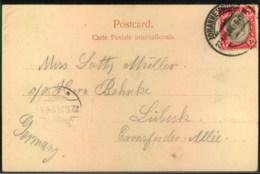"""1904, Ppc """"Ricksha Boy"""" From JOHANNESBURG To Germany - Non Classificati"""