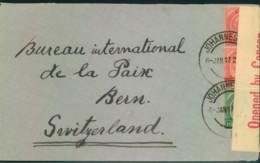 1917, Letter From JOHANNESBURG With Censor Sent To Bern, Switzerland - Non Classificati