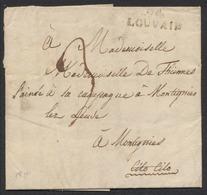 """Précurseur - LAC Datée De Louvain (1811) + Obl Linéaire 94 / LOUVAIN, Manuscrit """"Cito Cito"""" (Expres) > Montignies - 1794-1814 (Période Française)"""