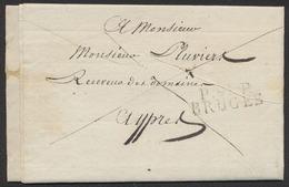 Précurseur - LAC Datée De Bruges (1811) + Obl Linéaire P.91P. / BRUGES > Receveur De Domaine à Ypres. - 1794-1814 (Période Française)
