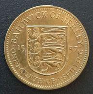 JERSEY - ¼ - 1/4 SCHILLING 1957 - Elizabeth II - 1ère Effigie - KM 22 - Jersey