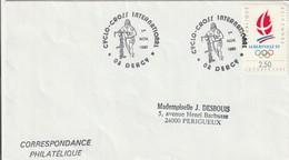"""Lettre De """"Dercy"""" (Aisne, 02) Du 01-11-1990, """"Cyclo-croos International"""" Sur YT 2632 - Marcophilie (Lettres)"""