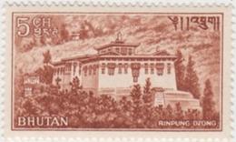 RINPUNG Dzong 5ch STAMP BHUTAN 1967 Mint/MNH - Budismo