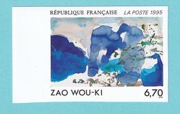 1995, YT No. 2928a, Zao Wou-Ki, MNH - Ungezähnt