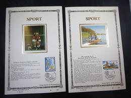 "BELG.1987 2259 & 2260 FDC Filatelic Zijde Card NL. : "" SPORT 87 "" - FDC"