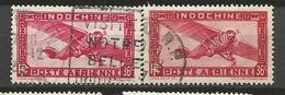 INDOCHINE  PA N° 8 X 2 NUANCES OBL - Indochine (1889-1945)