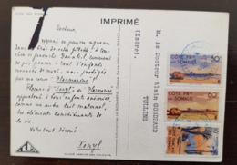 COTE DES SOMALIS - 3 Timbres Oblitérés DJIBOUTI 1950 - LABORATOIRES LA BIOMARINE DIEPPE - French Somali Coast (1894-1967)