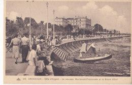 Arcachon (33) - Le Nouveau Boulevard Promenade Et Le Grand Hôtel - Arcachon