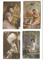 5 CPs : Femmes - A.Noyer 663 / Spes (?) 8016 / R P H (?) 5600/3 - Women