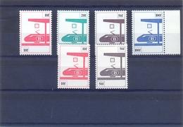 Nrs. TR455/TR458 + TR455P6/TR457P6  Postgaaf ** MNH - Ferrocarril