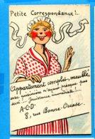 NY614, Petite Correspondance !, Appartement Complet Meublé, Robe à Pois, 577, Non Circulée - Sonstige
