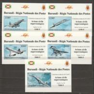 Burundi 2012 Special 1-stamp Sheets Mi 2963-2967 MNH SUPERSONIC AIRCRAFT - CONCORDE - TUPOLEV - Concorde