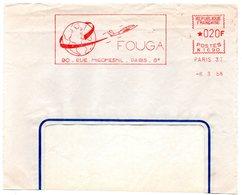AVION = PARIS 1958 = EMA  Illustrée = ' FOUGA ' - EMA ( Maquina De Huellas A Franquear)