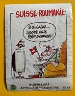 12894 - Football Suisse - Roumanie  Dessin De Barrigue Bonvillars - Football