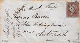 LETTRE. 16 MAR 1859. ONE PENNY ROUGE. SK. 46. POUR SIBLE-HEDINGHAM NEAR HALSTEAD ESSEX - 1840-1901 (Regina Victoria)
