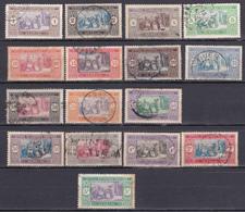 Sénégal Série 1914-1917 Marché Indigène N°53/63-65/69 Oblitéré - Used Stamps