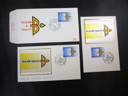 """BELG.1987 2262 FDC Zijde/soie & Mcard Soie/zijde & FDC : """" Buitenlandse Handel / Commerce Extérieur """" - FDC"""