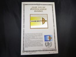 """BELG.1987 2262 FDC Filatelic  Card Zijde ,Lim.Ed. NL. : """" JAAR VAN DE BUITENLANDSE HANDEL """" - FDC"""