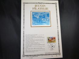 """BELG.1987 2264 FDC (Gent) Zijde Kaart , NL. Lim.Edition: """" Suske & Wiske  """" - FDC"""