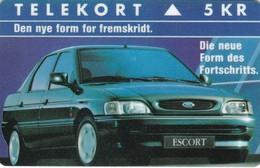 Denmark, KP 015, Ford Escort, Car, Only 2.000 Issued, 2 Scans - Dänemark