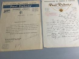 Lettre : Paul Dubois, Manufacture De Timbres & Tampons/La Maison Du Timbre Humide : 2 Lettres 1929/37 (Nonancourt) - Factures & Documents Commerciaux
