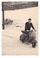 "MOTO SCOOTER  - SCOOTER "" VESPA "" - NEVE -  FOTO ORIGINALE - Automobili"